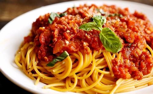 рецепт спагетти с соусом